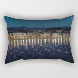Night view of Donostia-San Sebastian. Spain. Rectangular Pillow
