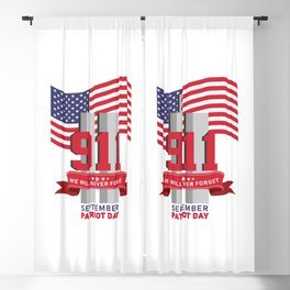 Patriot Day Never Forget 911 Anniversary Blackout Curtain
