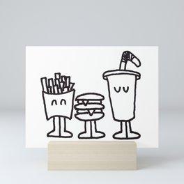 Fast Food Buddies Mini Art Print