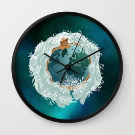 Mother Earth - Mother Nature - Love Earth Wall Clock