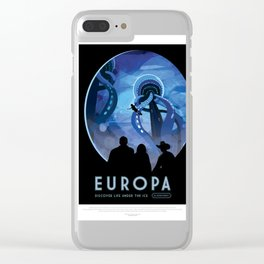 Europa - NASA Space Travel Poster Clear iPhone Case