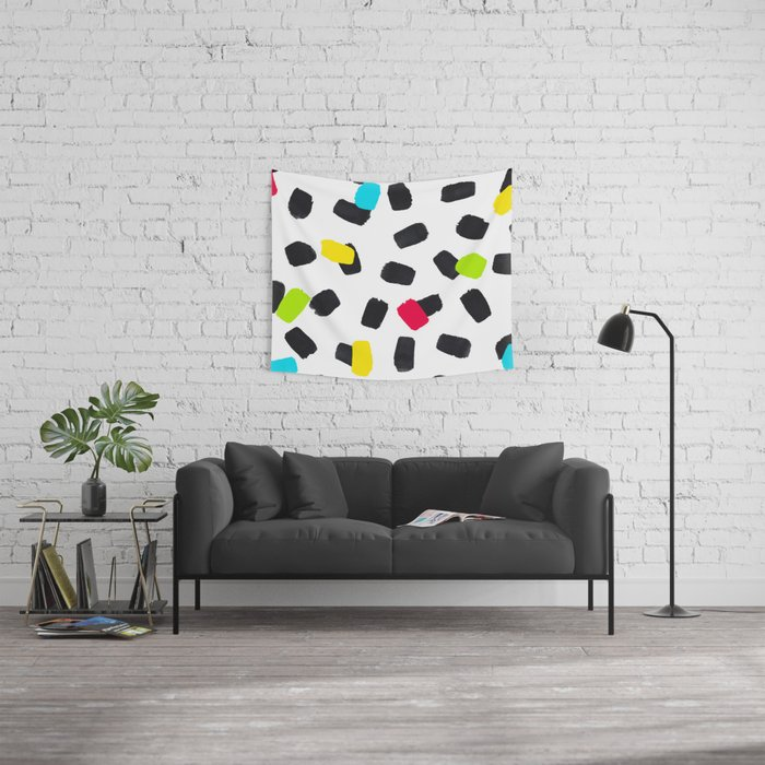 Brushstrokes in Color Wall Tapestry