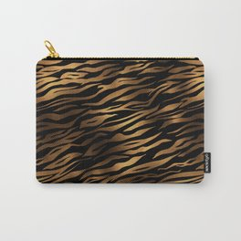 Gold and black metal tiger skin Carry-All Pouch