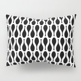 KEYHOLE black and white repeat abstract pattern Pillow Sham