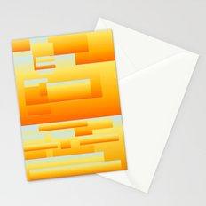 yellow modern Art Stationery Cards