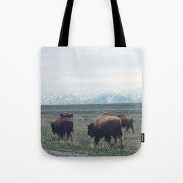 Roaming Buffalo Tote Bag