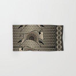 Buffalo Running (Gray) Hand & Bath Towel