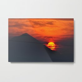 SUNSET OVER MOUNT HOOD Metal Print