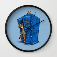 tigger Wall Clocks featuring It's B-I-Double g-ER on the Inside by cû3ik designs
