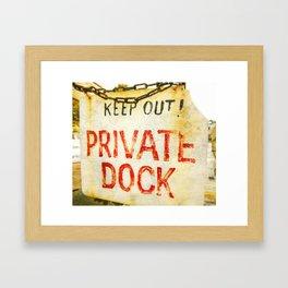 """""""Private Dock"""" Framed Art Print"""
