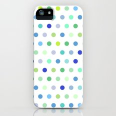 Polka Dots - Blue & Green Slim Case iPhone (5, 5s)
