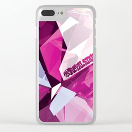 Pink Quartz Royal Stain Clear iPhone Case