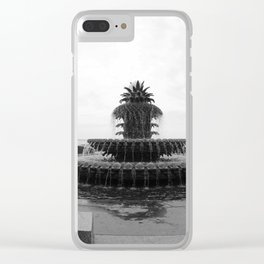Pineapple Fountain Charleston River Park Clear iPhone Case