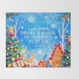 I will honour christmas in my heart Throw Blanket