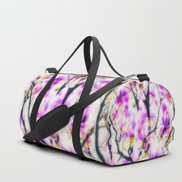 Abstracted magnolia branches Duffle Bag