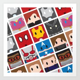 Civil War Blocks Art Print