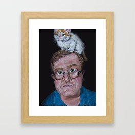 Bubs with Kitty Framed Art Print