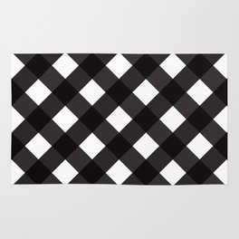 Contemporary Black & White Tilt Gingham Pattern - Mix & Match With Simplicty Of Life Rug