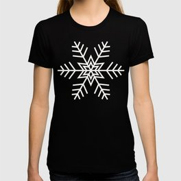 Snowflake Pattern | Black and White T-shirt