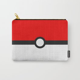 Red and White Minimalism Carry-All Pouch