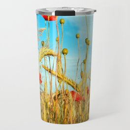 Lying in the cornfield, let your soul Travel Mug