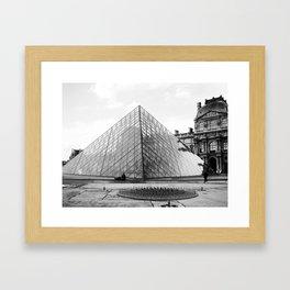 Pyramide de Louvre Framed Art Print