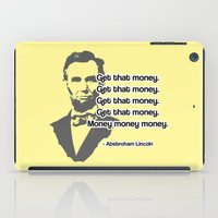 lincoln iPad Cases featuring Abebroham Lincoln by Spooky Dooky