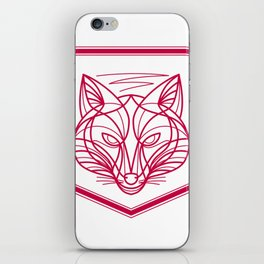 Fox Head Crest Monoline iPhone Skin