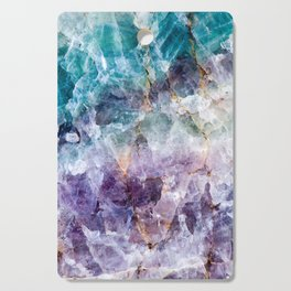 Turquoise & Purple Quartz Crystal Cutting Board