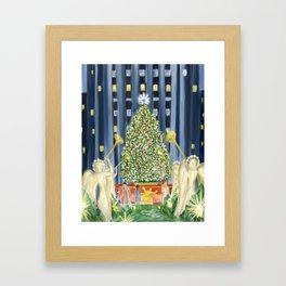 Christmas in New York Framed Art Print