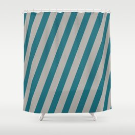 Royal Stripes (Quetzal Green) Shower Curtain