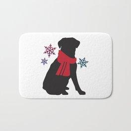 Black Dog Winter Bath Mat