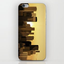 Sunrise-sunset city panorama iPhone Skin