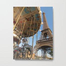 Round and Round in Paris Metal Print