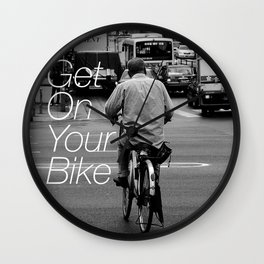 Get on your bike Wall Clock