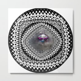 """""""Foggy Circle Point of View"""" Metal Print"""