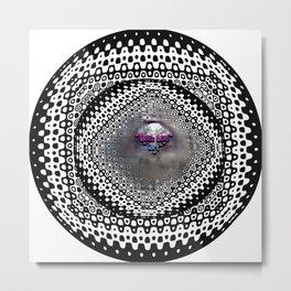 """Beez Lee Art : Foggy Circle Point of View"" Metal Print"