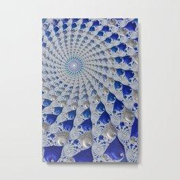 Tunnel Vision Blue Metal Print