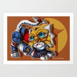 Shado-Pan Tiger Art Print
