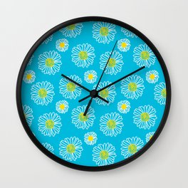Daisies Galore Wall Clock