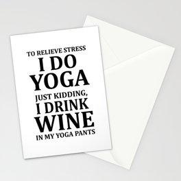 To Relieve Stress I Do Yoga... Stationery Cards