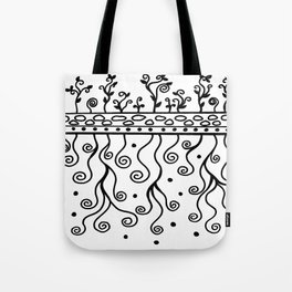 Strong Roots for Growth - Black and White Tote Bag