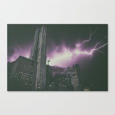 New York Electrical Storm Canvas Print