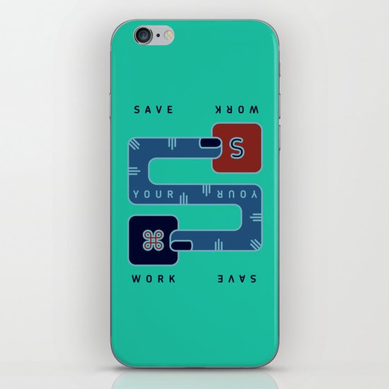 Save Your Work iPhone & iPod Skin