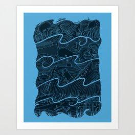 Once Upon the Sea Art Print