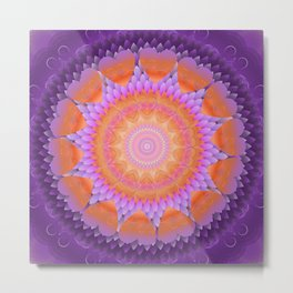 The Violet Flame Mandala Metal Print
