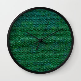 Pink Simple Flat weave Rug Texture Pattern Wall Clock