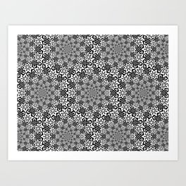 Star Vortex - Color: Black&White Art Print