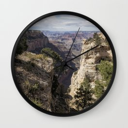 A Vertical View - Grand Canyon Wall Clock