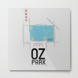 Parks of Chicago: Oz Park Metal Print